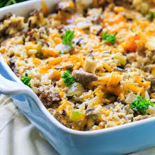 sausage and rice dressing casserole spicy southern kitchen