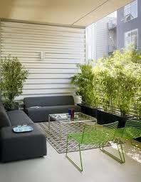 Modern City Apartment Terrace Decor Ideas With Grey Fabric Sofa - Apartment terrace design