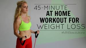 45 minute at home workout for weight loss mfitresolutions youtube