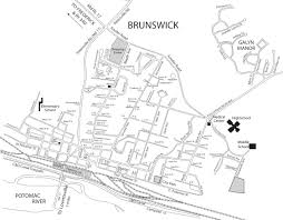 Map Of Md Map Of Brunswick City Of Brunswick Maryland