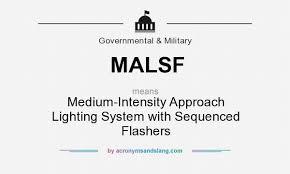 Approach Lighting System Malsf Medium Intensity Approach Lighting System With Sequenced