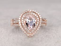 morganite pear engagement ring 1 carat pear shaped morganite engagement ring promise ring
