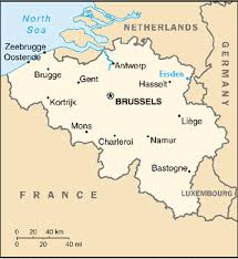 map belguim map of belgium with the approximate location of eisden superimposed