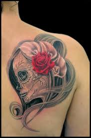 aaron goolsby tattoos flower black and grey day of the