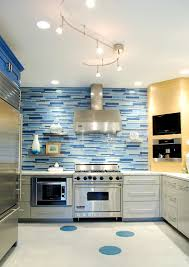 Track Lighting In Bedroom Suspended Track Lighting Kitchen Contemporary With Blue Tile