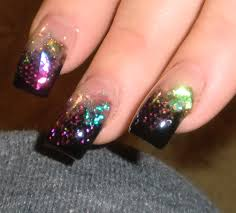 15 clear glitter acrylic nail designs images clear glitter