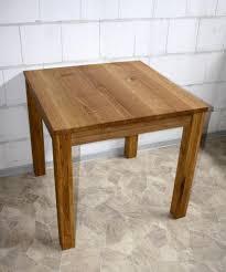Esszimmer Tisch Holz Esstisch 80x75x80cm Wildeiche Massiv Geölt