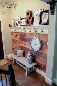 How To Build Wall Shelves Diy Shelf For The Entryway With Hooks Planked Walls Walls And