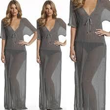 discount beach cover ups long dresses sheer mesh sheer beach dress