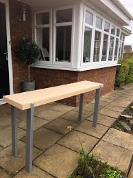 Ikea Console Table by Ikea Ikea Birch Console Table Bench Chrome Legs In Whickham