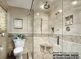 bathroom interior tile design ideas with elegant nemo tile