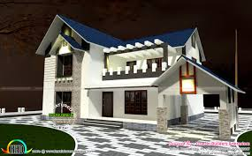 Kerala Sloped Roof Home Design by 2471 Square Feet 4 Bedroom Sloping Roof Kerala Home Design