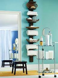 Bathroom Storage Accessories Colour Choice For The Wood And The Bright Blue But I Like The