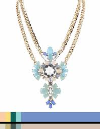 light blue statement necklace double talk light blue statement necklace concept x signature9
