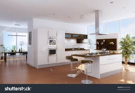 modern kitchen interior design the modern kitchen interior design stock photo