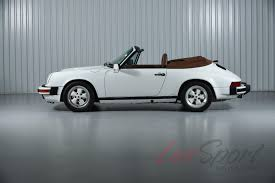 porsche sedan convertible 1988 porsche 911 carrera cabriolet carrera stock 1988130a for