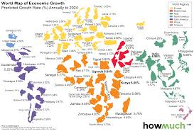 Picture Of A World Map by This World Map Shows The Economic Growth Over The Coming Decade