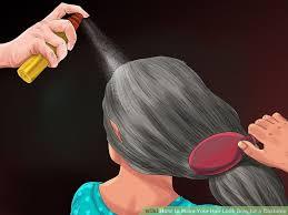 4 ways hair gray costume wikihow
