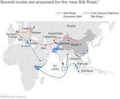 China World Map by One Belt And One Road U0027 Connecting China And The World Mckinsey
