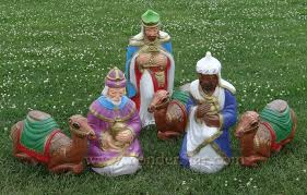Outdoor Nativity Lighted - lighted outdoor nativity wisemen with camels yonder star