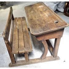 bureau d 馗olier ancien en bois 1 place bureau d ecolier ancien en bois 1 place 15 pupitre du0027écolier