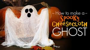 halloween ghost crafts spooky cheesecloth ghost how to youtube
