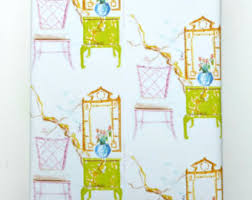 chinoiserie wrapping paper pastel gift wrap etsy
