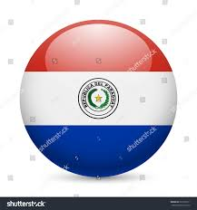 Paraguayan Flag Flag Paraguay Round Glossy Icon Button Vectores En Stock 233130511