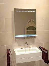 brilliant 50 mirrored bathroom cabinet with shaver socket and