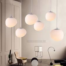 Pendant Lighting Fixtures Kitchen E27nordic Globe Pendant Lights White Glass Pendant L