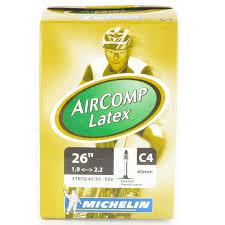 chambre à air vélo michelin michelin chambre à air vtt c4 aircomp 26x1 9 2 20 valve