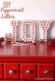 diy peppermint joy letters christmas craft i dig pinterest