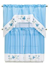 Blue Butterfly Curtains Embroidered Butterfly Curtains Carolwrightgifts Com