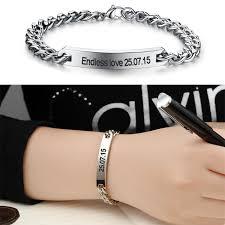 Name Braclets Customize Name Bracelet For Men And Women U2013 Silver Back
