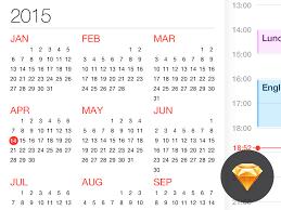 calendar for ios freebie download sketch resource sketch repo