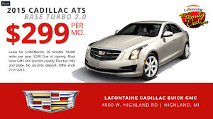 cadillac ats lease specials cadillac lease specials at lafontaine cadillac