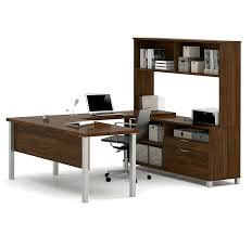 U Shaped Gaming Desk by Amazon Com Bestar Pro Linea U Desk With Hutch Bark Grey Kitchen