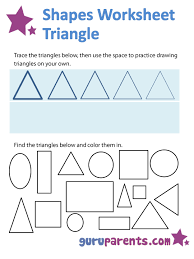 shapes worksheets and flashcards for kids shapes pinterest