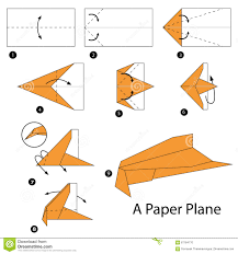 step by step instructions how to make origami a plane stock