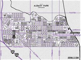 Chicago Map Art by Albany Park Map U2013 Joe Mills