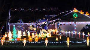 Blow Molded Christmas Yard Decorations by Large Blow Mold Christmas Spectacular Holiday Lights With Rudolph