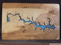 outdoor world lake gaston map this is a beautifully detailed laser engraved and precision cut