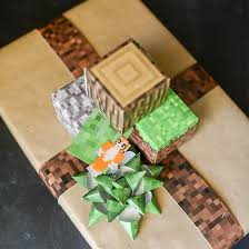 minecraft wrapping paper minecraft gift wrapping family crafts