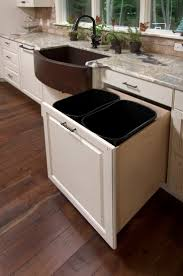 Kitchen Island With Trash Bin by Best 25 Hidden Trash Can Kitchen Ideas On Pinterest Kitchen