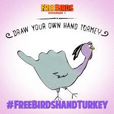 drawing free birds hand turkeys jenny on the spot