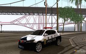 lexus ct200h mods ct200h japanese police for gta san andreas