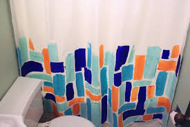 Skyline Shower Curtain Abstract Painted Shower Curtain The Surznick Common Room