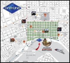 Tourist Map Of New Orleans by Tour Departures U0026 Driving Directions Gray Line New Orleans