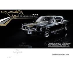 Mustang Car Black 1967 Ford Mustang Gt Hard Top 12897 1 18 Scale Greenlight