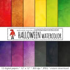 halloween textures digital watercolor digital clipart background textures hand
